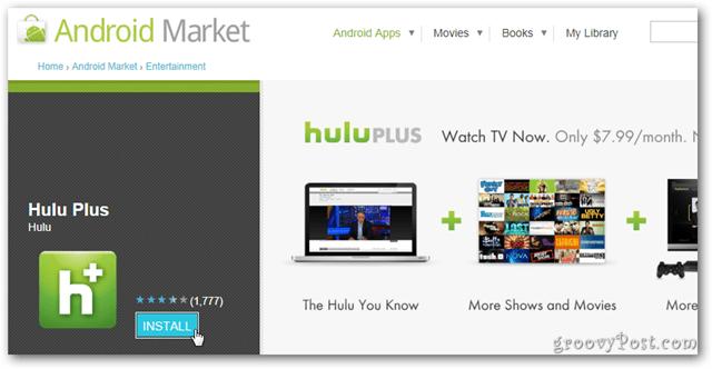 Hulu Plus app hits Android Market