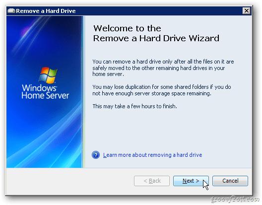 Remove Hard Drive Wizard