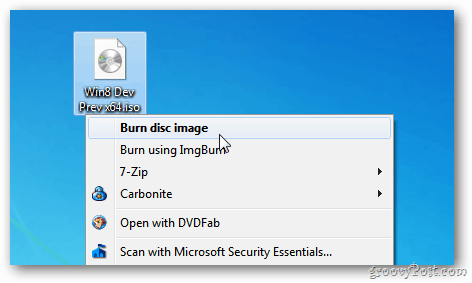 Windows 7 and 8: How To Burn an ISO Image to Disc