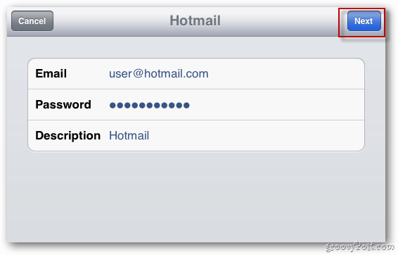 Email Credentials