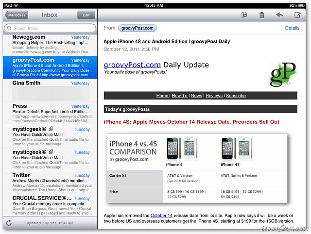 iOS 5 Inbox
