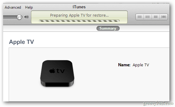 Apple TV Restore Progress