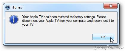 Apple TV Update Complete