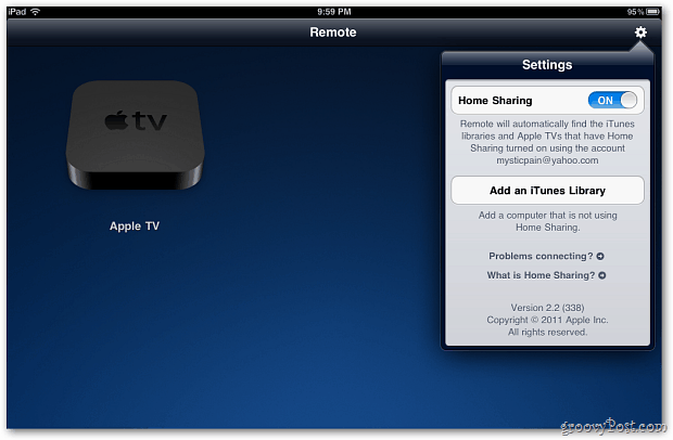 Remote Control Apple TV from iPad, iPhone or iPod Touch