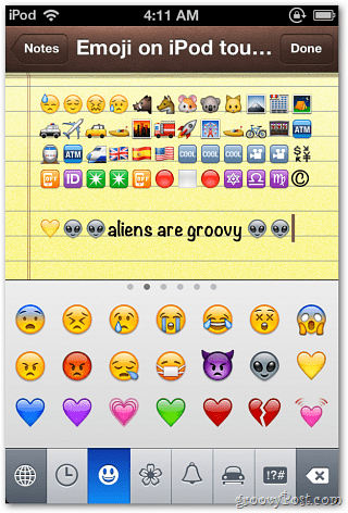 Apple iOS 5: Enable the Emoji Keyboard