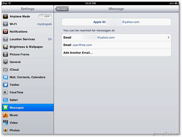 iMessage Address