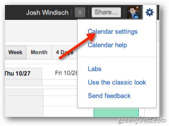 Google Calendar Settings