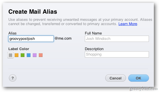 Create Mail Alias
