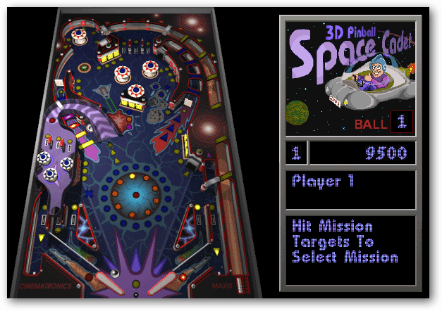 Windows 7, 8 and 10: Install the Classic 3D Pinball Space
