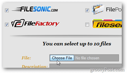Choose File Button