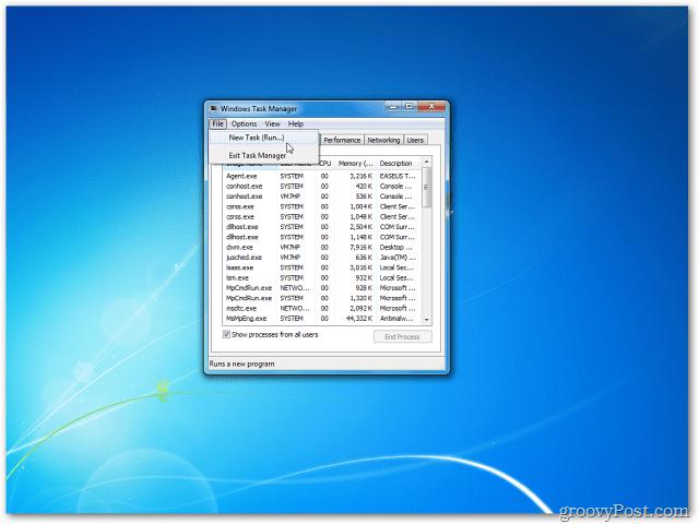 Empty Desktop