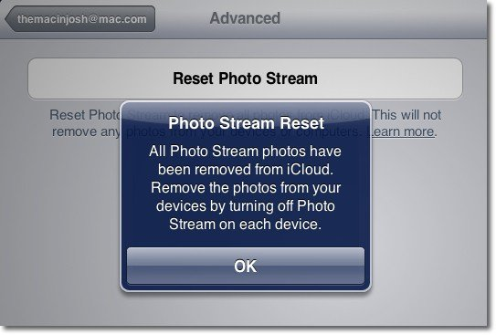 Photo Stream Reset