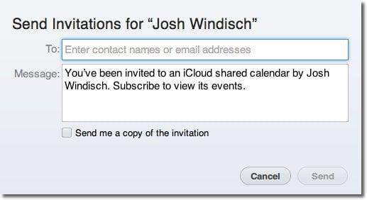 how to send ics to icloud