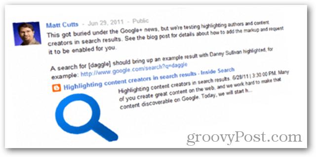 Matt Cutts and Google Authorship