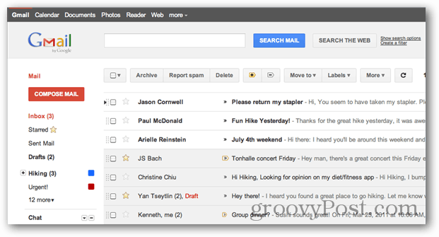 Gmail UI redesign