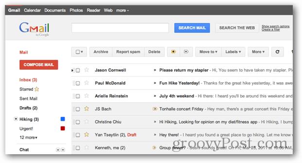 Gmail UI redesign
