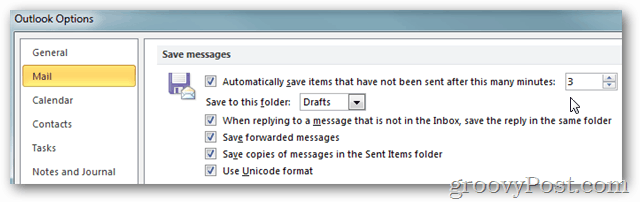 Outlook 2010 Options Mail Settings