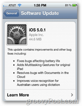 Apple iOS 5.0.1