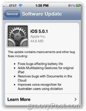Apple iOS 5.0.1