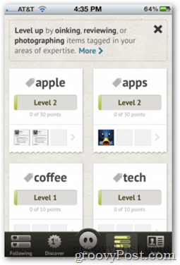 iOS Oink App -- Level Status