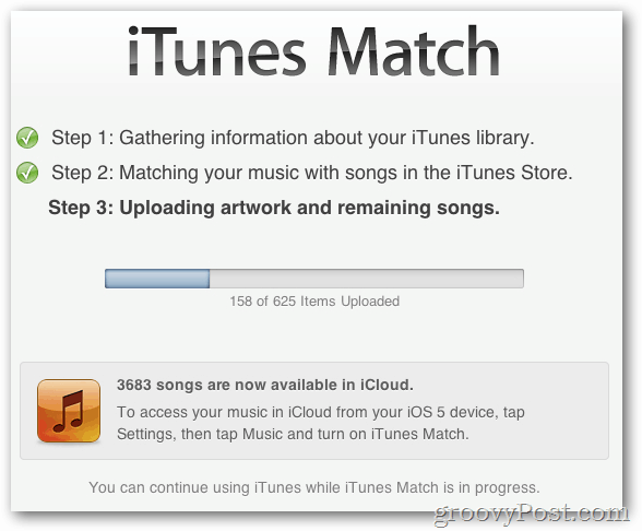 itunes match 3 step process