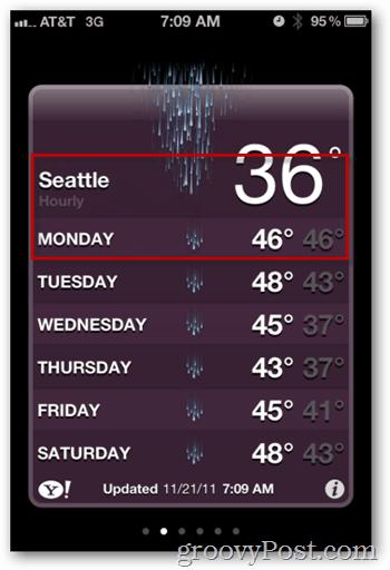 iOS Weather App Forecast
