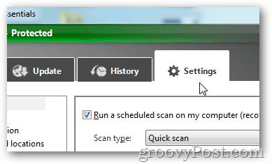 MSE settings tab
