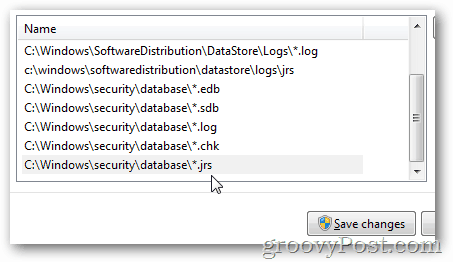 MSE settings excluded files and folders Add windows security policy
