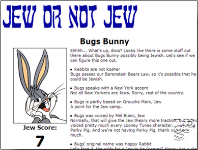 Is Bugs Bunny Jewish?