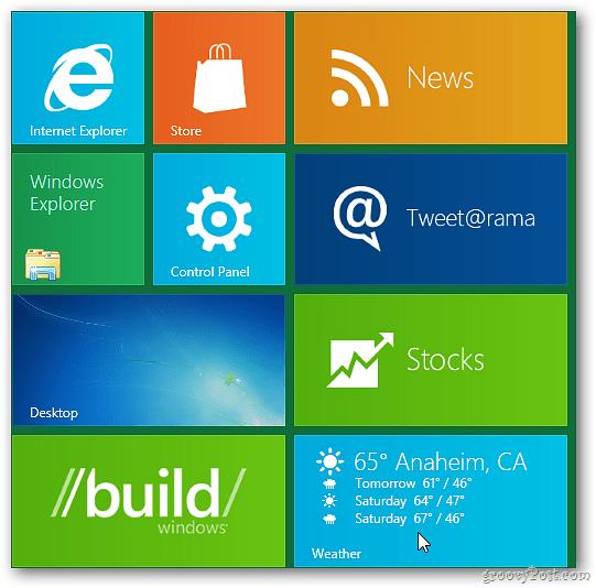 Windows 8 Metro UI