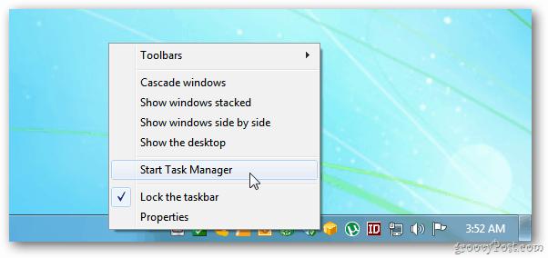 Start Task Manager