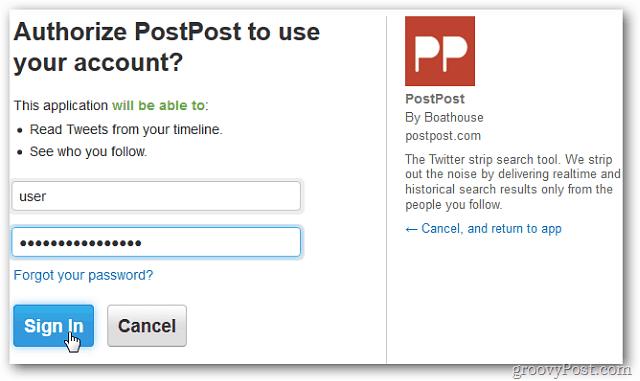 Authorize Account