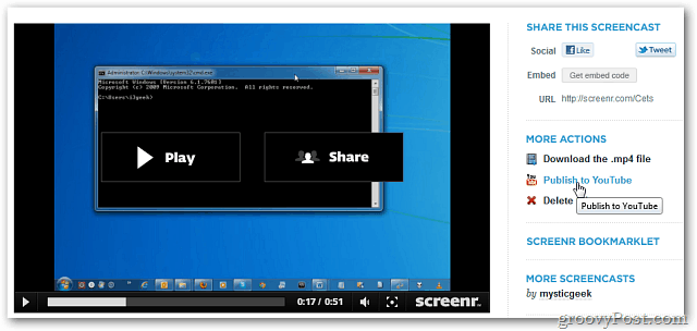 Share Screencast