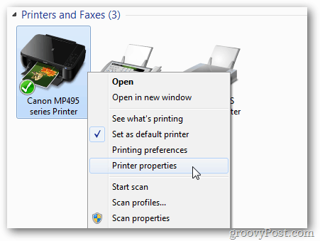 Printer Properties