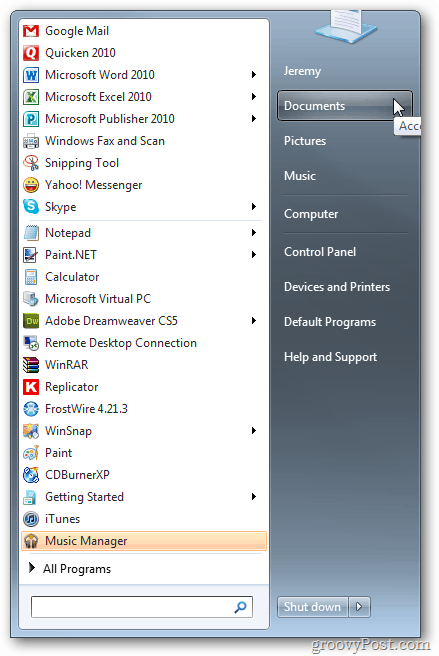 Windows 7: Use Dropbox as a Library