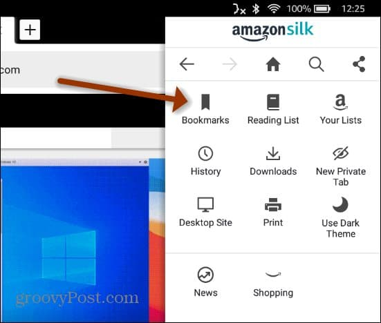 bookmarks Fire HD