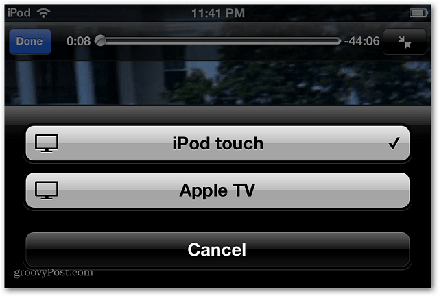 AirPlay iPod touch