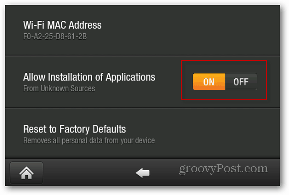 Allow Installation of Applications