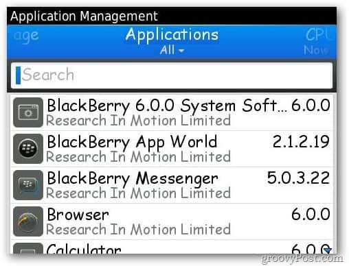 Blacberry Applications