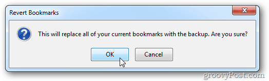 Bookmarks Revert