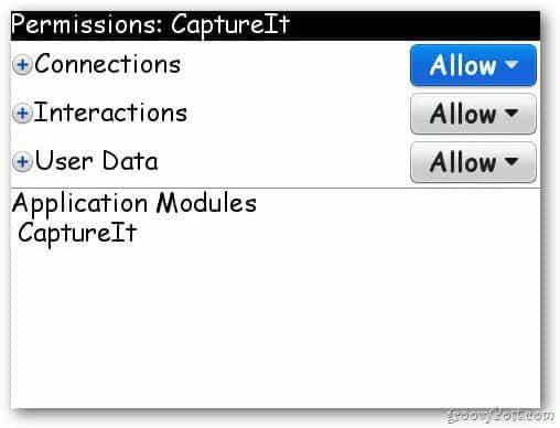 CaptureIt Permissions