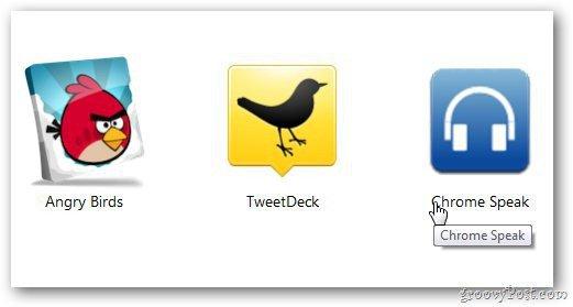 Chrome Speak Icon