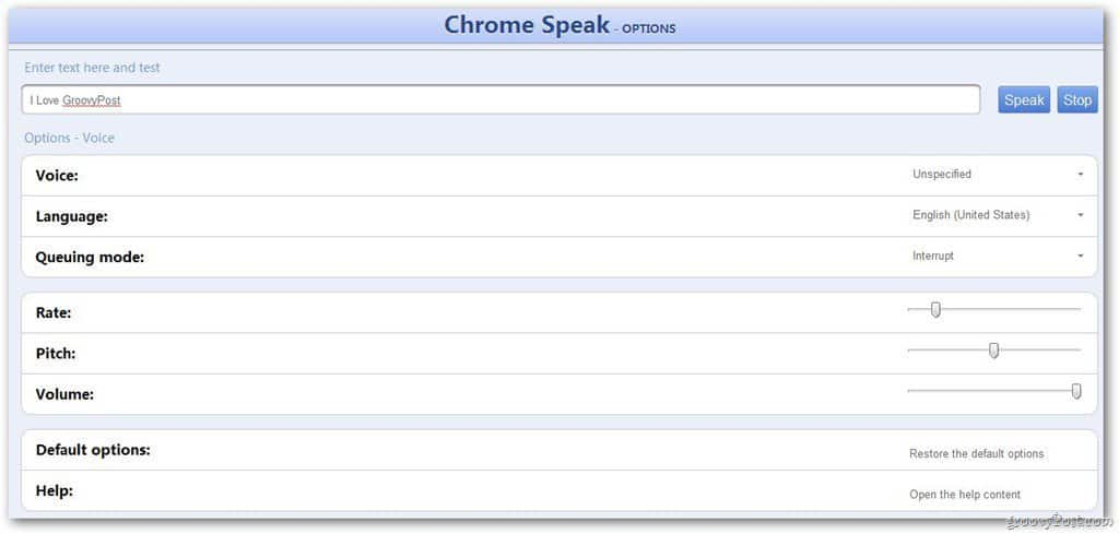 Google Chrome: Make the Browser Read Text to You