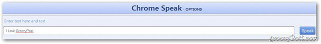 Chrome Speak Text