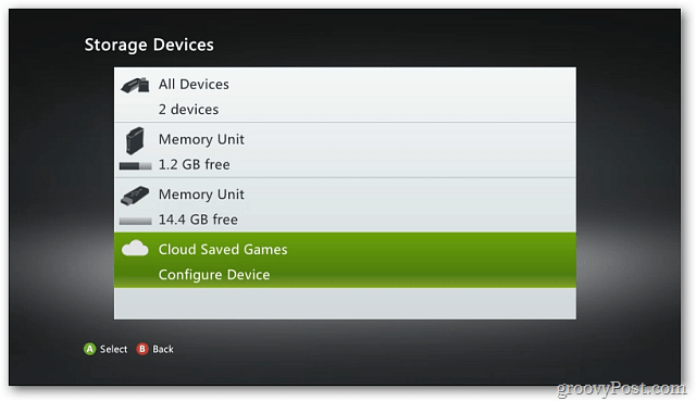Where is the cloud storage on xbox one fecha