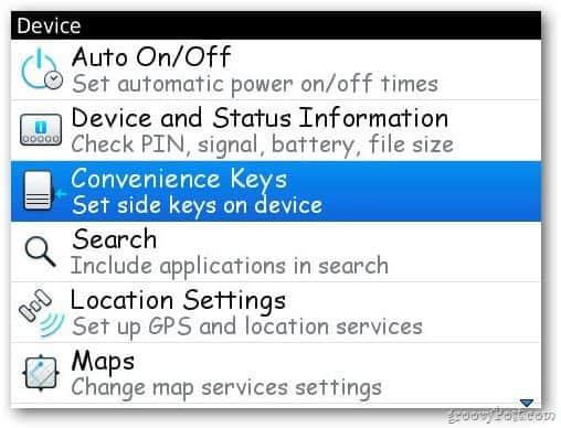Convenience key