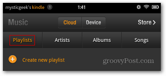 Create New Playlist Kindle Fire
