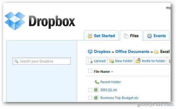 Dropbox Office Files
