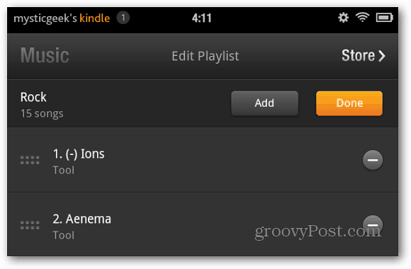 Edit Playlist Kindle Fire