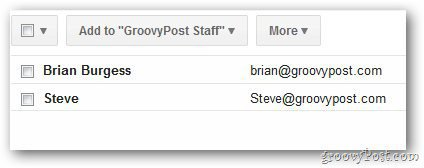 Email Group Contacts